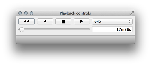 Playback widget