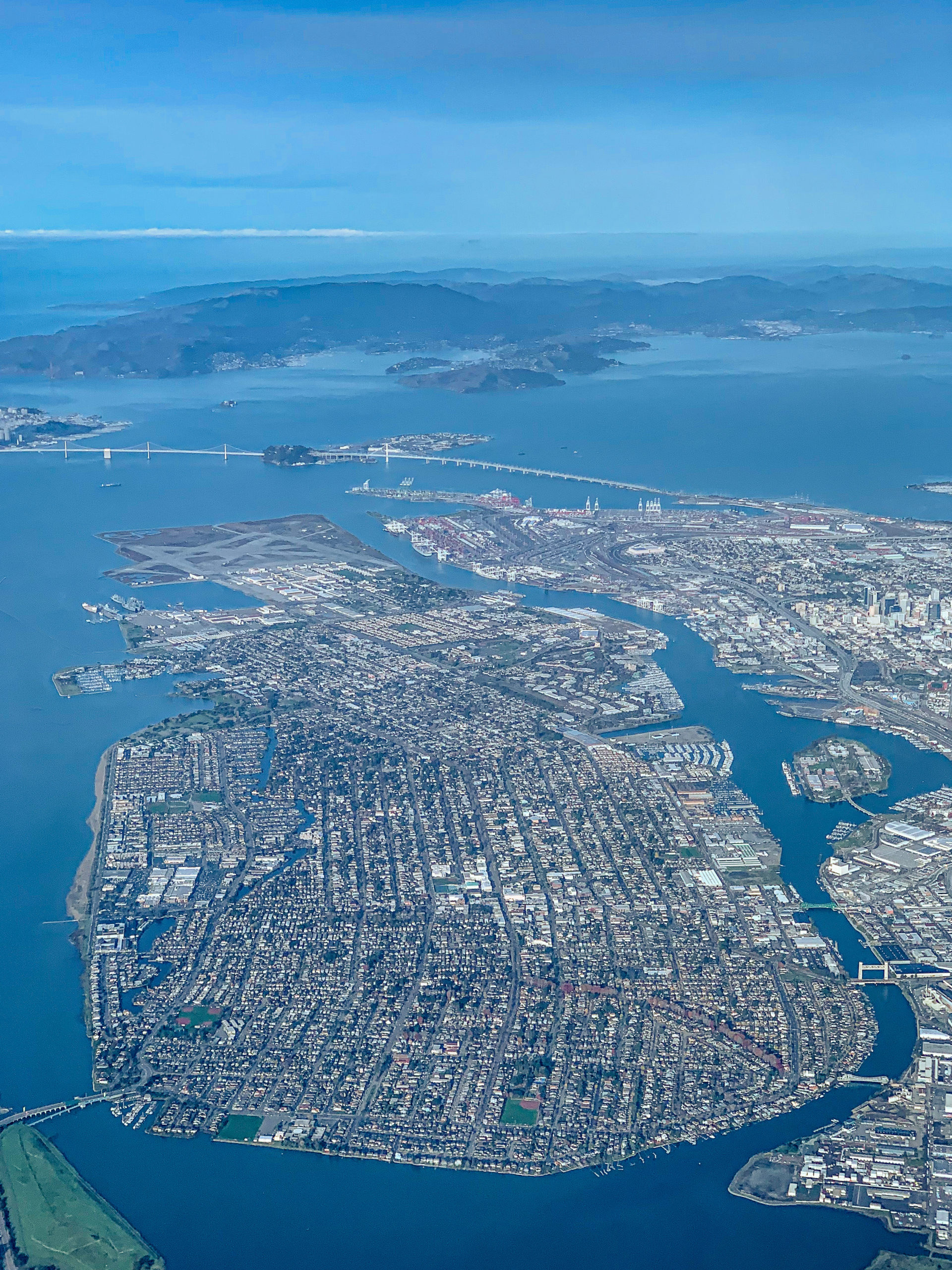 Alameda from the air
